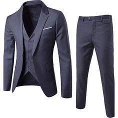 Men's Going out Daily Work Street chic Spring Fall Suit 2017 - $62.09