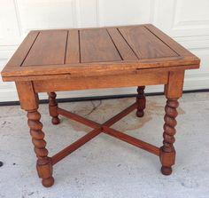 Farm spindle legs vintage table w