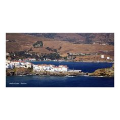 Andros town - Andros Photo Greeting Card