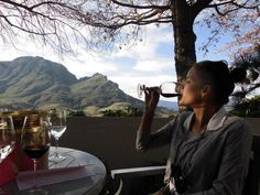 Wine with a view – pretty sure it doesn't get much better than this! #wine #SouthAfrica