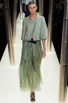 Armani Privé Spring 2015 Couture Fashion Show - Phenelope Wulff