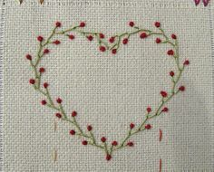 ~ Heart made of Feather stitch and Colonial Knot… Great Embroidery Site! ~ Heart made of Feather stitch and Colonial Knot Embroidery Hearts, Simple Embroidery, Hand Embroidery Stitches, Silk Ribbon Embroidery, Crewel Embroidery, Hand Embroidery Designs, Embroidery Techniques, Cross Stitch Embroidery, Embroidery Tattoo