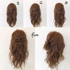HAIR (Hair) is a hair style that a stylist model sends. Cute Messy Hairstyles, Work Hairstyles, Easy Hairstyles For Long Hair, Hair Arrange, Hair Looks, Hair Inspiration, Curly Hair Styles, Hair Makeup, Hair Cuts
