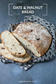 Make This Easy Date And Walnut Bread It's Simple But Packed With Flavor And Texture. Via Katehax Easy Bread Recipes, Baking Recipes, Scone Recipes, Quick Bread, Dessert Recipes, Healthy Recipes, Walnut Bread Recipe, Walnut Recipes, Date And Walnut Loaf