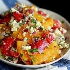 Roasted pepper and feta salad by kitchentreaty