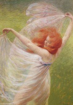 Josef Anton Engelhart (1864-1941) - Le vent, 1897