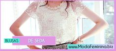 Ideias Fashion, Lace, Women, Printed, Outfits, Silk Blouses, Blouse Models, Racing, Woman