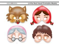We Offer You: Special and Unique Happiness! We guarantee that you, and your family when buying our Unique Little Red Riding Hood Tale Printable Masks Red Riding Hood Party, Diy Photo Booth Props, Printable Masks, Birthday Photo Booths, Mask Party, Red Hood, Nursery Rhymes, Little Red, 4th Birthday