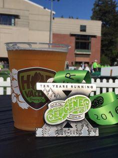 Eugene, Oregon Eugene Half Marathon 201- 2016 bling photos - half marathon medal photos by Fifty States Half Marathon Club members www.50stateshalfmarathonclub.com6 medal