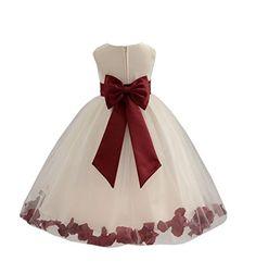 Wedding Pageant Flower Petals Girl Ivory Dress with Bow Tie Sash 302a 2 ekidsbridal http://www.amazon.com/dp/B00P2VSRR0/ref=cm_sw_r_pi_dp_l982vb1C8V5P2