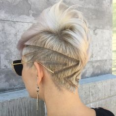 Geometric shaved pixie by Tuan Tran