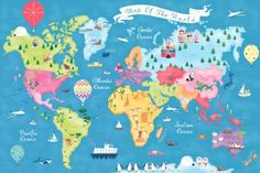 Sophie Hanton - Sophie Hanton - Map Jigsaw SEH1347 Wall Art Prints, Framed Prints, Canvas Prints, Lake Wanaka, Map Of New York, Map Art, World, Illustration, Artist