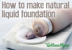 Natural Liquid Foundation Recipe - Wellness Mama - This natural liquid foundation airbrushing creme is amazing for skin and makes it look amazing with shea butter, aloe, witch hazel, argan oil & minerals. Natural Beauty Tips, Natural Makeup, Natural Skin Care, Organic Beauty, Organic Makeup, Natural Blush, Natural Foundation, Liquid Foundation, Homemade Foundation