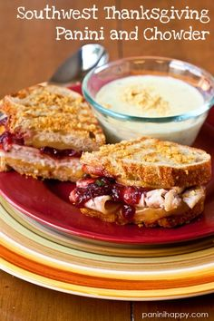 Southwest Thanksgiving Panini and Chowder...www.paninihappy.com #WFMclash #thanksgiving
