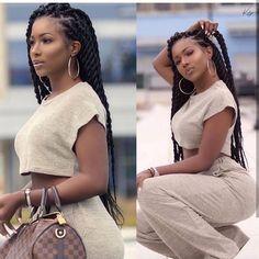 Ideas braids for black women senegalese cornrows natural hair for 2019 Box Braids Hairstyles, African Hairstyles, Girl Hairstyles, Fashion Hairstyles, School Hairstyles, Fast Hairstyles, Black Girl Braids, Braids For Black Women, Braids For Black Hair