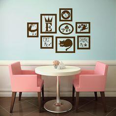 Alice in Wonderland Vinyl Wall Decal Frames Kit with by vinylfruit, $40.00