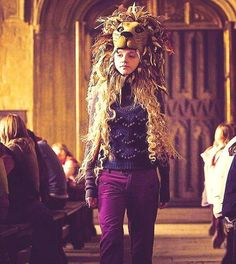 Image result for luna lovegood lion hat