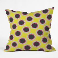 Geometric and neon on a throw pillow!