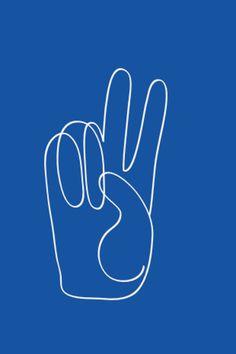 Chasing Paper - Ampersand Design Studio, Peace - Blue