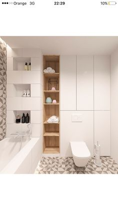 Spa Bathroom Design, New Bathroom Ideas, Bathroom Plans, Laundry In Bathroom, Small Bathroom, Dyi Bathroom Remodel, Fitted Bathroom Furniture, Small Toilet Room, Japanese Interior Design