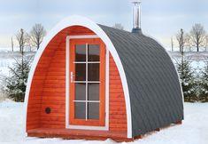 Cabins Barrel Sauna Kit Igloo 8 Person Outdoor Sauna with Harvia Wood Burning Heater : Garden & Outdoor Home Office, Saunas, Sauna Diy, Outdoor Sauna Kits, Outdoor Sheds, Garden Structures, Outdoor Structures, Wood Burning Heaters, Barrel Sauna