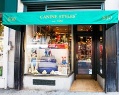 This is the Store Front of the Original Canine Styles that was opened in It is located in the heart of New York City at 830 Lexington Ave. Pet Store Display, Store Window Displays, Retail Boutique, Dog Boutique, York Dog, Store Front Windows, Pet Stroller, Pet Hotel, Window Ideas