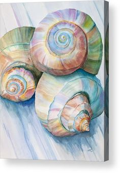 Balance in Spirals Watercolor Painting by Michelle Constantine Balance In Spirals Watercolor Painting Painting by Michelle Wiarda - Balance In Spirals Watercolor Painting Fine Art Prints and Posters for Sale Art Plage, Pastel Watercolor, Beach Watercolor, Watercolor Projects, Watercolour Paintings, Watercolor Ideas, Watercolor Artists, Watercolor Techniques, Watercolor Print