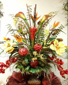 #Tropical Large Arrangement. Designed by Arcadia Floral & Home Decor