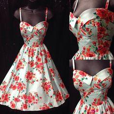 vestido de los años 50