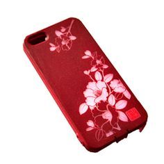 Stylish silicon iPhone 5 or 5s case, in red, black or pink. Each color has its own unique design, though no matter which you choose it is likely to catch the eye of passersby!  #iphone #iphone5 #fukouoka #iphonecase  #gift #giftforher