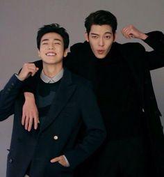 Lee Hyun Woo and Kim Woo Bin for M Magazine