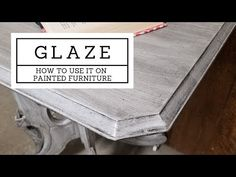 How to add some extra detail to your painted furniture - add glaze! Sometimes called antiquing glaze, this product is easier to work with than dark wax, and . Glazing Painted Furniture, Painting Antique Furniture, White Painted Furniture, Furniture Repair, Chalk Paint Furniture, Furniture Styles, Furniture Makeover, Diy Furniture, Rustic Furniture