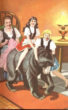 Snow White And Rose Red - the bear returned every evening that winter and they became good friends..