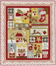 Link to this cute christmas quilt pattern. Use different fabrics!