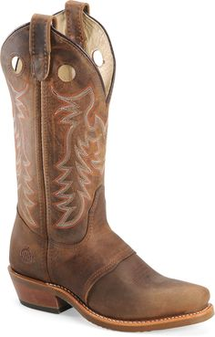 "Double-H Boots | Womens Women's 12"" Domestic Narrow Square Toe Buckaroo Made in USA"