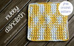 Nubby Dishcloth - Free Pattern! #freepattern #crochet #dishcloth