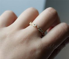 14k Yellow Gold Diamond Ring Full Eternity .23ct por RobMdesign
