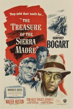 (vía El tesoro de Sierra Madre (1948) HDTV)  Fred C. Dobbs (Humphrey Bogart) decide ir a Tampico en busca de oro para salir de la miseria. Emprende el viaje con otros dos vagabundos (Walter Huston y Tim Holt), pero la codicia y la envidia que surge...