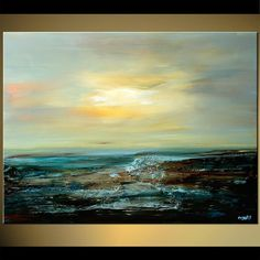 Original abstract art paintings by Osnat - abstract seascape #abstractart