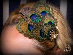DIY Peacock Headband - I've always looked at these but never gotten one.....I need to get one