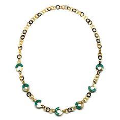 QueCraft Horn & Lacquer Chain Necklace - Q9724-J
