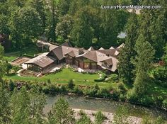 LHM Seattle - Spectacular Gated Riverfront Estate #LuxuryHomes #Homes #Estates
