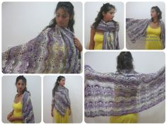 Love this shawl. Fans in a Row Lacy Shawl – Free Crochet Pattern