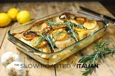 The Slow Roasted Italian - Printable Recipes: Rosemary Lemon Roasted Chicken Breasts
