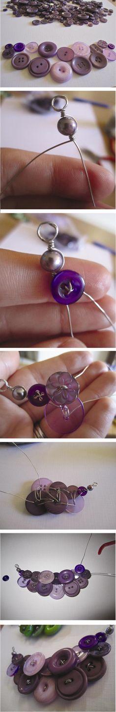 Button Necklace Tutorial                                                                                                                                                                                 More