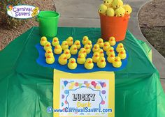 Lucky Duck Carnival Game - No Water Needed!