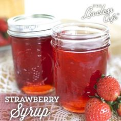 Pour it over ice cream and cheesecake, mix it in a cocktail, or liven up a fruit salad; this simple Strawberry Syrup recipe is one to have o...