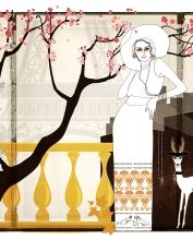 Illustration – art Anna Handell #vintage #fashion #fashionillustration #art #retro #artnouveau