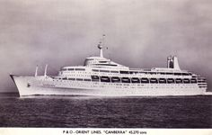 Courtesy of Alan MacKenzie Canberra postcard circa. early Believe this to be a photograph taken during the acceptance trials. (if so I personally would have been on board at this time. having joined her in Belfast before her trials) P&o Cruises, Falklands War, Beautiful Ocean, Belfast, Ss, Australia, Acceptance, Trials, Postcards