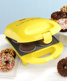 Another great find on #zulily! Yellow Mini Unit Donut Maker #zulilyfinds